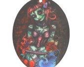 B170 Spooky Zombie Pin Up Girl // Halloween //  *****STOCK CLEARANCE*****