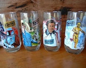 Vintage Star Wars Empire Strikes Back Glasses from Burger King limited edition coca cola promo glasses circa 1980 Luke Skywalker