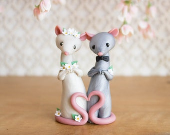 Rat Wedding Cake Topper by Bonjour Poupette