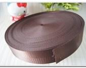 "5 yards of nylon webbing 2cm(7/8""),1 inch(1""),1.25 inch(1-1/4""),1.5 inch(1-1/2""),2 inch(2"") bag strap purse strap handbag strap brown"