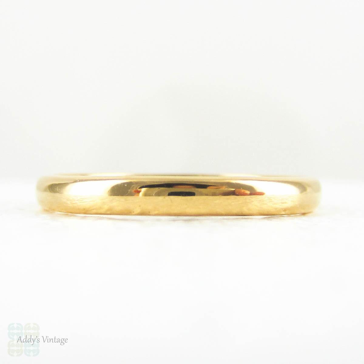 22 carat gold wedding ring simple d profile shape yellow gold