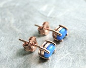 Opal Earrings / Opal Studs / Genuine Opal Studs / Rose Gold / Jewelry / Spring Collection / Gift for Her / Accessories / Gemstone Earrings