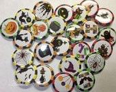 """Halloween Buttons - 1"""" Buttons - 1.5"""" Buttons -"""