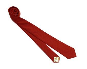 Rust Linen Necktie