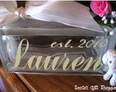 Vinyl Decal Name for Glass Block - GLASS NOT INCLUDED - Glass Block - Name Decals - Children - Nursery - Teenagers - Home Decor