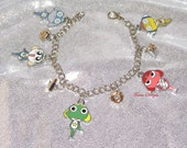 Custom Sgt. Frog Sergeant Frog Charm Bracelet - by Torres Designs - Collectible Gift - Ready To Ship