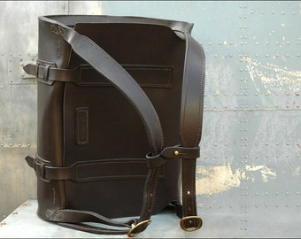 Parachuter Bag //  Leather Backpack