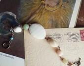 Chunky Beaded Bracelet, Shabby Chic Rosary Style Bracelet Made From Vintage Pastel Beads, Beaded Stacking Bracelet