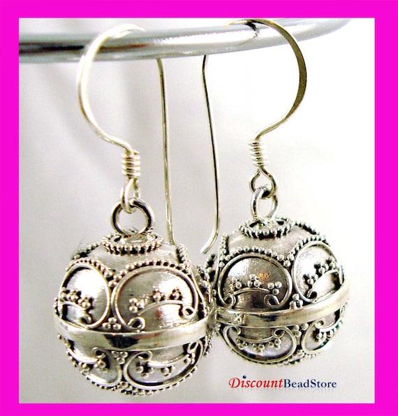 14mm Bali 925 Sterling Silver Harmony Ball Earrings HE10