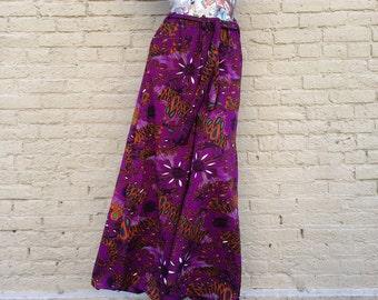 70s Palazzo Pants Vintage Purple Mod small medium