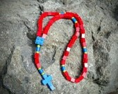 LEGO® Brick Rosary - The Original Catholic LEGO® Brick Rosary in Red, Blue & Green First Communion Gift