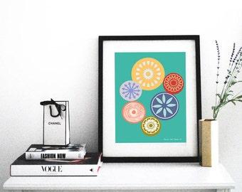 "Blomst- Digital Download Art Print 8.5"" x 11"""