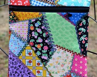 Handmade Retro patchwork fabric Cross Body Bag, Hipster, Travel Bag, Diaper