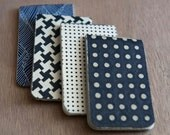 black and blue notebook four pack
