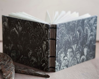 french marble coptic notebook