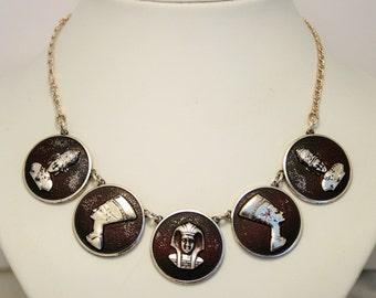 Vintage Egyptian necklace. Pharaoh. Nefertiti
