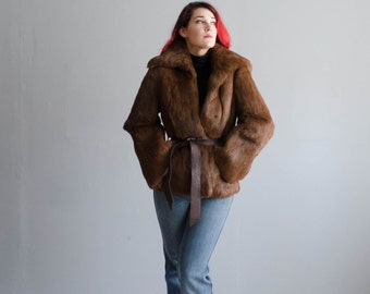 70s Fur Coat - Vintage 1970s Fur Jacket - Niki Rabbit Fur Coat