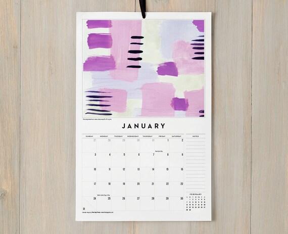 2016 Wall Calendar - 12 Watercolor Art Prints