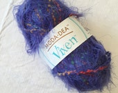 Moda Dea Vixen Yarn in Royal Highness, Purple Fun Fur, Eyelash with Colorful Plies, Funky Bulky Yarn for Scarves, Trim, Embellishments