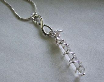 Infinity Quartz Crystal Jewelry Pendant