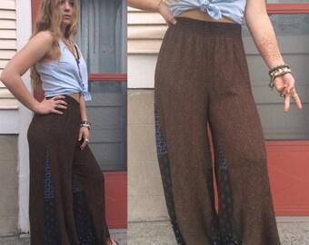 Rayon Pants, eco pants,L hippie pants,palazzo pants, festival pants,patchwork pants, boho pants, free people style pants,  Zasra