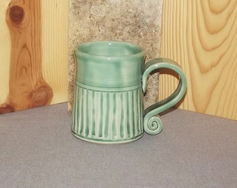 Original Hand Thrown Stoneware Pottery Coffee Cup  14 oz