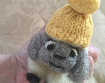 Beanie Bah Sheep (needle felted )