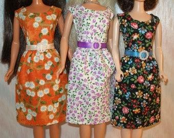 "Handmade 11.5"" fashion doll dress -Your choice - choose 1 - floral print"
