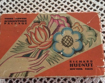 Vintage 1920s 1930s Makeup Box Richard Hudnut Great Graphics Box Is Empty Great For Display Art Crafts Scrap Booking