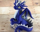 Blue and Silver Dice Dragon