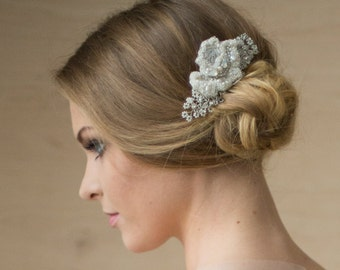Strange Traci Champagne Lace And Crystal Bridal Hair Piece From Gilded Hairstyles For Men Maxibearus