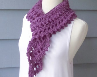 PATTERN S-005 / Crochet Pattern / ELSIE Scarf ... worsted 175 yards