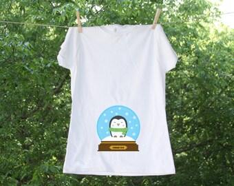 Christmas Snow Globe // Christmas Maternity Shirt