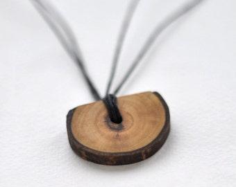 walnut wood pendant