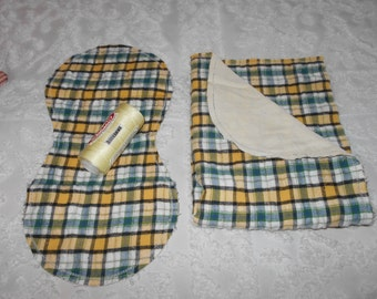Plaid Baby Boy - Receiving Blanket and Burp Cloth