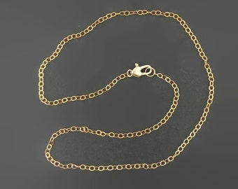 Bronze Flat Cable Chain Made to Order