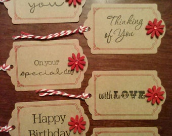 6 Stamped Gift Tags
