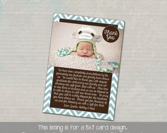Baby Gift Thank You Card with Picture