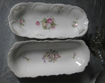 Reduced! Antique Victorian Serving Dishes/ Oval