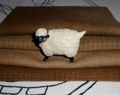 Hand Dyed Wool Bundle in PRIMITIVE BROWNS for Rug Hooking,Applique,Fiber Arts,Penny Rugs,Rug Braiding