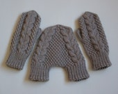 Cream mittens hand knit wool smitten mittens hand holding lovers gloves engagement gift for him and her wedding gift