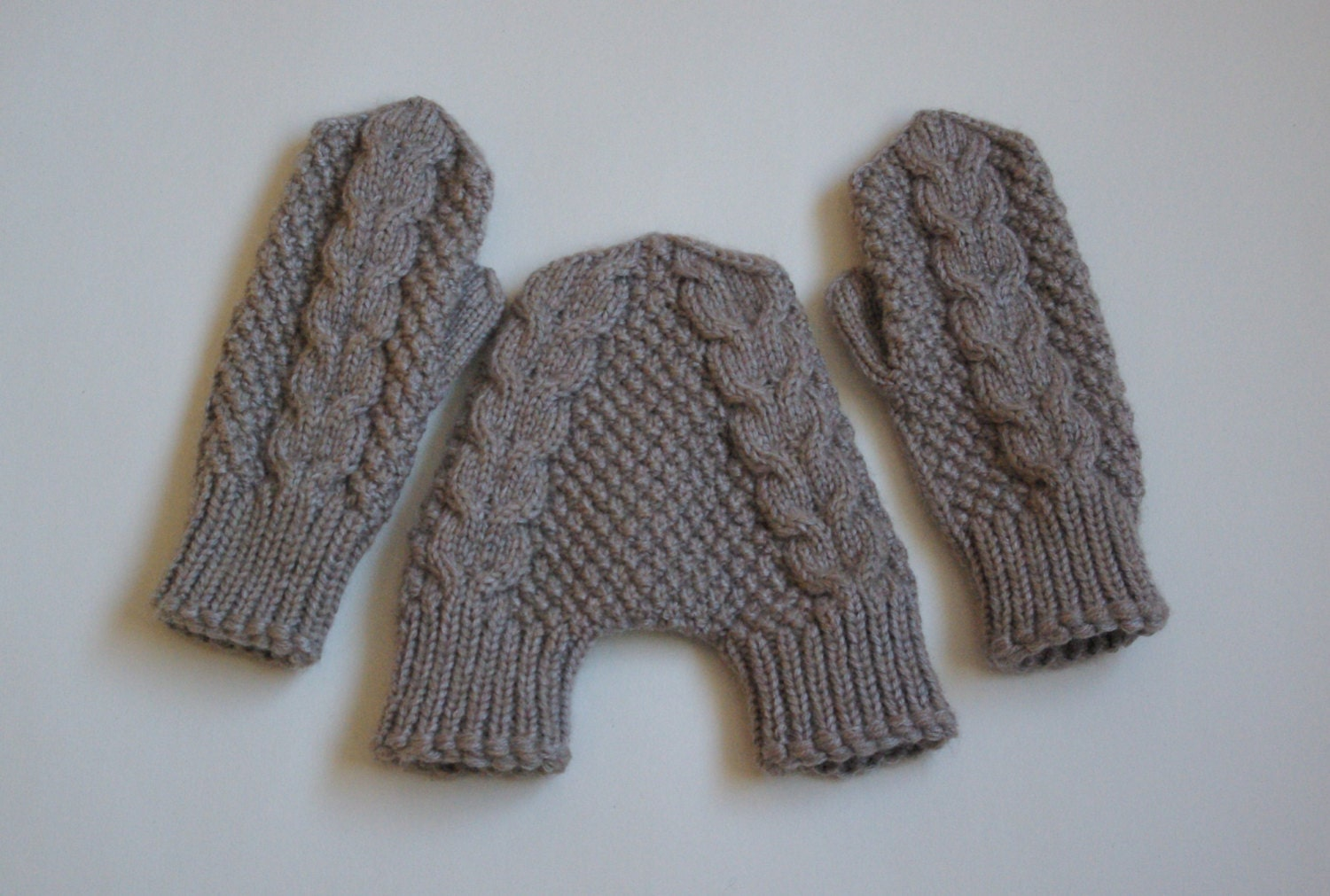 Knitting Pattern For Hand Holding Mittens : Cream wool mittens hand knit smitten mittens hand holding