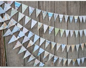 Mini Map Bunting - Paper bunting - Travel theme -  Ready to ship