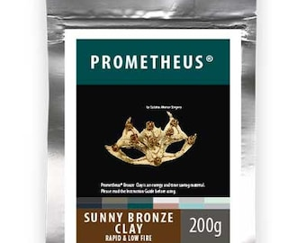 NEW Prometheus Sunny Bronze Metal Clay, Torch firable, no carbon required, no kiln required