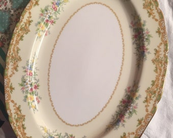Vintage 1933 Serving Platter Veona Dainty Floral Noritake Made in Japan #3395