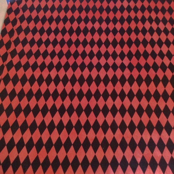 Sale harley quinn fabric fabric by the yard red and black for Fabric for sale by the yard