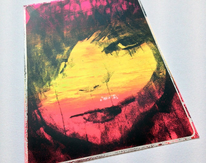 Putting Out (Expressive Too): Bright Screenprint Art Sticker