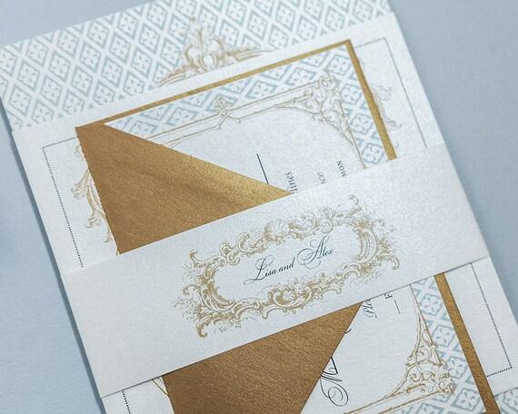 Baroque Wedding Invitations: French Baroque Wedding Invitation Digital DownloadFleur De