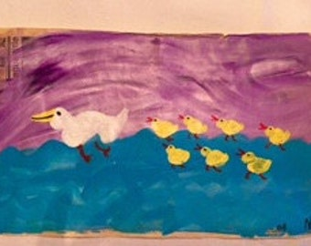 Getting All My DUCKS IN a ROW. Original painting