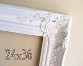 24x36 Frame Wedding Photo Prop Wedding Picture Frame Wedding Gift Wedding Picture Frame Large Ornate White Frame 24x36 Gold Frame Distressed
